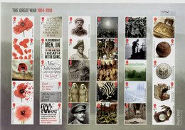 2018 Great Britain World War I - Composite Sheet - MNH** LImited To 7500 And Numbered - Copy 1792 - WW1 (I Guerra Mundial)