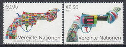 2018 United Nations Vienna Non-Violence Art Complete Set Of 2 MNH @ BELOW FACE VALUE - Ungebraucht
