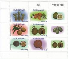 2018 Surinam Fruit Trees Arbres Complete Block Of 6 + Tabs MNH  @ BELOW FACE VALUE - Surinam