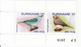 2018 Surinam Birds Oiseaux Complete Set Of 2 MNH @ BELOW FACE VALUE - Surinam