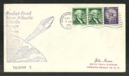 USA 1963 SPACE COVER TELSTAR 2 CAPE CANAVERAL COMMEMORATIVE COVER - Event Covers