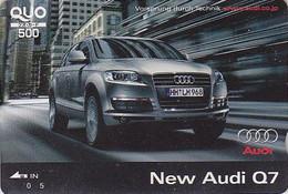 Carte Prépayée JAPON - VOITURE AUDI Q 7 - CAR JAPAN Prepaid QUO Card / Germany - 3505 - Automobili