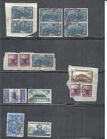 ITALY REPUBLICA STAMPS LOT HIGH VALUES INCLUDE  1949 Centennary Foundation Prima Republica Romana 100 Lire IN FRAGMENT - 1946-60: Usati