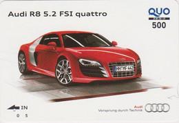 Carte Prépayée JAPON - VOITURE AUDI QR 8 QUATTRO - CAR JAPAN Prepaid QUO Card / Germany - 3506 - Automobili
