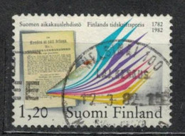 1982    Bicentenary Of Finnish Periodicals - YT 856 - Unificato 856 - MI 892 - Gebraucht