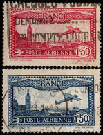 Q018B - FRANCE - 1930 - AIR STAMPS -  YV#: 5,6 - USED - - 1927-1959 Afgestempeld