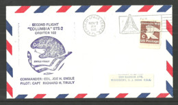USA 1981 SPACE COVER COLUMBIA ORBITER KENNEDY CENTRE COMMEMORATIVE COVER - Event Covers