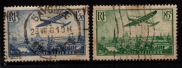 Q018I - FRANCE - 1936 - AIR STAMPS -  YV#: 8,9 - USED - - 1927-1959 Afgestempeld