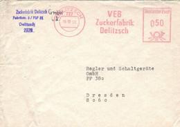 VEB Zuckerfabrik Delitzsch 16.10.1990 > Dresden - Poststempel - Freistempel