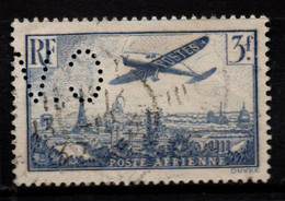 Q018K - FRANCE - 1936 - AIR STAMPS -  YV#: 12 - USED - PERFIN - 1927-1959 Afgestempeld