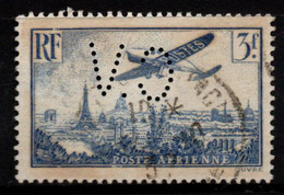 Q018L - FRANCE - 1936 - AIR STAMPS -  YV#: 12 - USED - PERFIN - 1927-1959 Afgestempeld