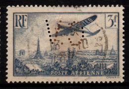 Q018M - FRANCE - 1936 - AIR STAMPS -  YV#: 12 - USED - PERFIN - 1927-1959 Afgestempeld