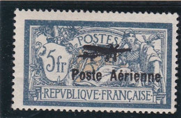 POSTE AERIENNE - TYPE MERSON SURCHARGES - 2F ORANGE ET VERT-BLEU - 5F BLEU ET CHAMOIS - 1927-1959 Brieven & Documenten