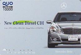 Carte Prépayée JAPON - VOITURE MERCEDES E 320 - CAR JAPAN Prepaid QUO Card / Germany - 3507 - Automobili