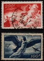 Q018N - FRANCE - 1946-47 - AIR STAMPS -  YV#: 18,19 - USED - - 1927-1959 Afgestempeld