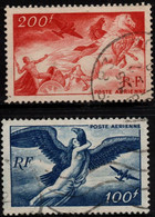 Q018O - FRANCE - 1946-47 - AIR STAMPS -  YV#: 18,19 - USED - - 1927-1959 Afgestempeld