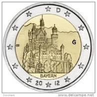 ** 2 EURO COMMEMORATIVE  ALLEMAGNE 2012 Lettre G. PIECE NEUVE ** - Deutschland