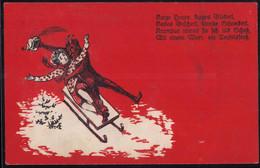 Gest. Krampus 1938, Briefmarke Entfernt - San Nicolás