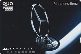 Carte Prépayée JAPON - VOITURE MERCEDES - CAR JAPAN Prepaid QUO Card / Germany - 3508 - Automobili