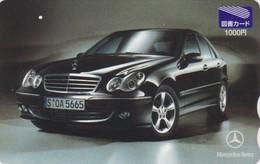 Carte Prépayée JAPON - VOITURE MERCEDES - CAR JAPAN Prepaid Tosho Card / Germany - 3509 - Automobili