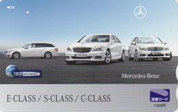 Carte Prépayée JAPON - VOITURE MERCEDES - CAR JAPAN Prepaid Tosho Card / Germany - 3510 - Automobili