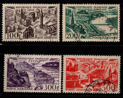 Q019A - FRANCE - 1949 - AIR STAMPS -  YV#: 24-27 - USED - - 1927-1959 Afgestempeld