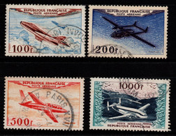 Q019F - FRANCE - 1954 - AIR STAMPS -  YV#: 30-33 - USED - - 1927-1959 Afgestempeld