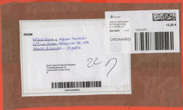 SPAGNA - ESPAÑA - Spain - Espagne - 2021 - 13,20 Postage Paid - Big Fragment - Viaggiata Da A Coruña Per Cesena, Italia - 2011-... Lettere