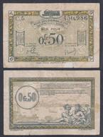 Besetztes Rheinland 0,50 Fr.1923 France-Belg.Eisenbahn C5 Ro 858a Pick R4 F (4) - Zonder Classificatie