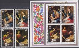 NIUE 1984 Christmas, Set Of 4 & M/S MNH - Niue