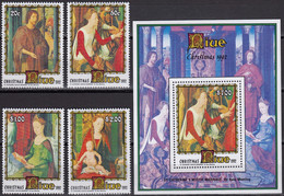NIUE 1992 Christmas, Set Of 4 & M/S MNH - Niue