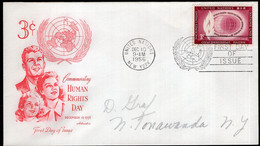 United Nations - 1956- FDC - Commemorating Human Rights Day - A1RR2 - FDC