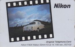 TC JAPON / 110-011 - PHOTO NIKON Calendar / Voiture MERCEDES - Car JAPAN Phonecard - FOTO Auto / Germany - 3514 - Pubblicitari