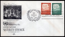 United Nations - 1957 - FDC - Honoring The United Nations Securrity Council - A1RR2 - FDC