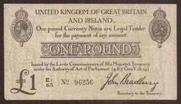 Great Britain. 1 Pound WW1 (1914). Pick 349. - 1 Pound