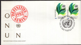 United Nations - 1982 - FDC - Definitive Series 1982 - A1RR2 - FDC