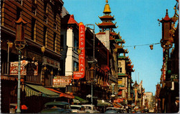 (5 A 9) Older USA Postcard - San Francisco Chinatown Grant Avenue - Helicópteros