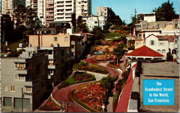 (5 A 9) Older USA Postcard - San Francisco Crookedest Street In The World - Helicópteros
