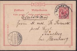 Gest., Brief Kiautschou Tsintau GSK P 1 Deutsche Marine-Schiffspost 23.11.1898 Nach Pinneberg, Nach Dr. Steuer 400,00 Eu - Kolonie: Kiautschou