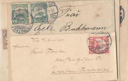 Gest., Brief Kiautschou 5 Stck. Briefe (1x Mit Inahlt), Diverse Frankaturen, Bitte Ansehen - Kolonie: Kiautschou