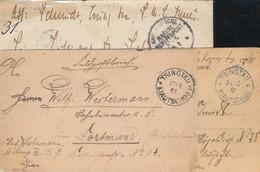 Gest., Brief Tsingtau 3 Stck. Feldpostbriefe/Karte Alle Mit Beförderungsspuren, 1x MSP No. 4 SMS Irene - Kolonie: Kiautschou