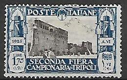 COLONIE ITALIANE LIBIA 1928 2°FIERA DI TRIPOLI SASS. 75 MLH VF - Libia