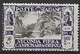 COLONIE ITALIANE LIBIA 1928 2°FIERA DI TRIPOLI SASS. 77 MLH VF - Libia