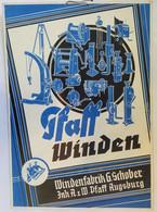Winden-Pfaff Augsburg Reklamepappaufhänger 46x32 Cm - Manifesti