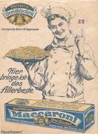 * Reklameplakart A 4 Hensels Drei Glocken Maccaroni - Manifesti