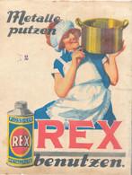 * Reklameplakart A 4 Rex Metallputzmittel - Manifesti