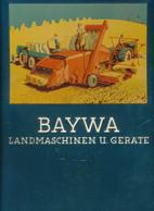 Blechreklametafel BAYWA Landmaschinen Und Geräte Deutz - Manifesti