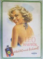 Reklamepappaufhänger Chlorodont Leo Hautöl 47x33 Cm 3x Nagelloch - Manifesti