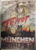 Plakat Terror über München, P. Fischer 1944 - Manifesti
