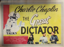 Kinoplakat Charlie Chaplin The Great Dictator 62x44 Cm - Manifesti